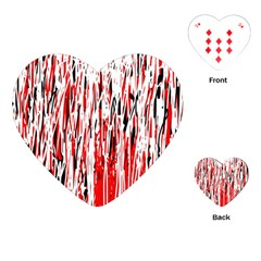 Red, Black And White Pattern Playing Cards (heart)  by Valentinaart