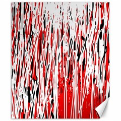 Red, Black And White Pattern Canvas 8  X 10  by Valentinaart