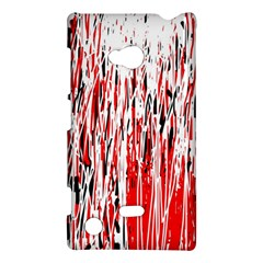 Red, Black And White Pattern Nokia Lumia 720 by Valentinaart
