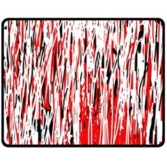 Red, Black And White Pattern Double Sided Fleece Blanket (medium)  by Valentinaart