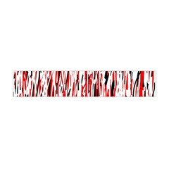 Red, Black And White Pattern Flano Scarf (mini) by Valentinaart