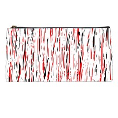 Red, Black And White Pattern Pencil Cases by Valentinaart