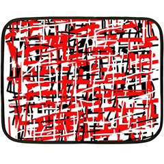 Red, White And Black Pattern Fleece Blanket (mini) by Valentinaart
