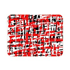 Red, white and black pattern Double Sided Flano Blanket (Mini)