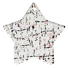 Red, White And Black Pattern Star Ornament (two Sides)  by Valentinaart