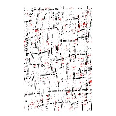 Red, White And Black Pattern Shower Curtain 48  X 72  (small)  by Valentinaart
