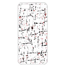 Red, White And Black Pattern Apple Iphone 5 Seamless Case (white) by Valentinaart