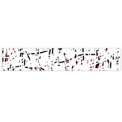 Red, White And Black Pattern Flano Scarf (large) by Valentinaart
