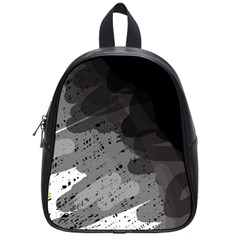 Black And Gray Pattern School Bags (small)  by Valentinaart