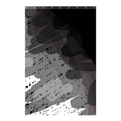 Black And Gray Pattern Shower Curtain 48  X 72  (small)  by Valentinaart