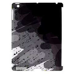 Black And Gray Pattern Apple Ipad 3/4 Hardshell Case (compatible With Smart Cover) by Valentinaart