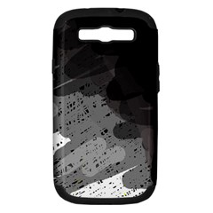 Black and gray pattern Samsung Galaxy S III Hardshell Case (PC+Silicone) by Valentinaart