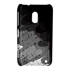 Black And Gray Pattern Nokia Lumia 620 by Valentinaart