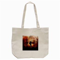 Dancing In The Night With Moon Nd Stars Tote Bag (cream) by FantasyWorld7