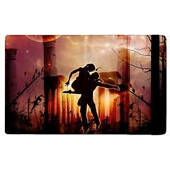 Dancing In The Night With Moon Nd Stars Apple Ipad 3/4 Flip Case by FantasyWorld7
