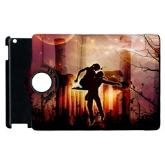 Dancing In The Night With Moon Nd Stars Apple Ipad 2 Flip 360 Case by FantasyWorld7