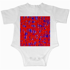 Blue And Red Pattern Infant Creepers by Valentinaart