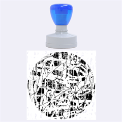 Blue And Red Pattern Rubber Round Stamps (large) by Valentinaart