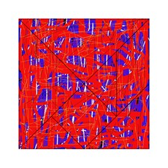 Blue And Red Pattern Acrylic Tangram Puzzle (6  X 6 ) by Valentinaart