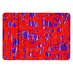 Blue And Red Pattern Samsung Galaxy Tab 8 9  P7300 Flip Case by Valentinaart
