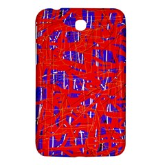 Blue And Red Pattern Samsung Galaxy Tab 3 (7 ) P3200 Hardshell Case  by Valentinaart