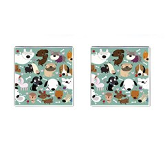 Dog Pattern Cufflinks (square) by Mjdaluz