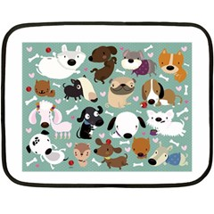 Dog Pattern Fleece Blanket (mini) by Mjdaluz