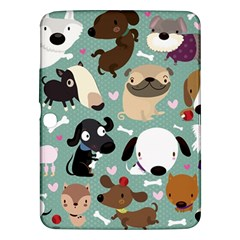 Dog Pattern Samsung Galaxy Tab 3 (10.1 ) P5200 Hardshell Case  by Mjdaluz