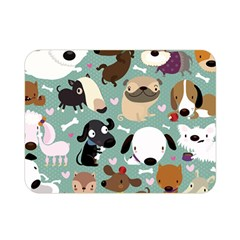 Dog Pattern Double Sided Flano Blanket (mini)  by Mjdaluz