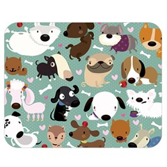 Dog Pattern Double Sided Flano Blanket (medium)  by Mjdaluz