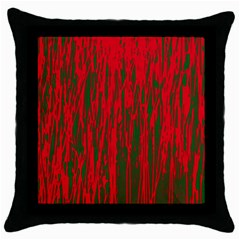 Red And Green Pattern Throw Pillow Case (black) by Valentinaart