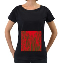 Red and green pattern Women s Loose-Fit T-Shirt (Black) by Valentinaart