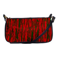 Red And Green Pattern Shoulder Clutch Bags by Valentinaart
