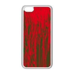 Red And Green Pattern Apple Iphone 5c Seamless Case (white)