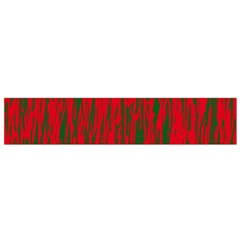 Red And Green Pattern Flano Scarf (small) by Valentinaart
