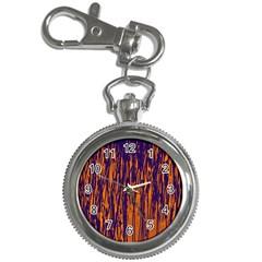 Blue And Orange Pattern Key Chain Watches by Valentinaart