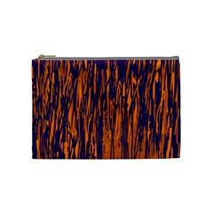 Blue and orange pattern Cosmetic Bag (Medium)