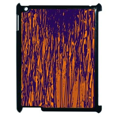 Blue And Orange Pattern Apple Ipad 2 Case (black) by Valentinaart
