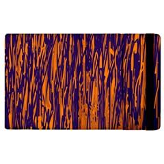 Blue And Orange Pattern Apple Ipad 2 Flip Case by Valentinaart