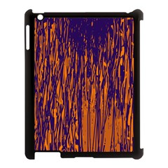 Blue And Orange Pattern Apple Ipad 3/4 Case (black) by Valentinaart