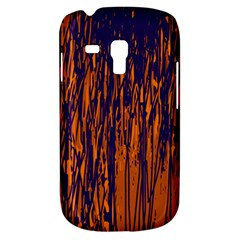 Blue And Orange Pattern Samsung Galaxy S3 Mini I8190 Hardshell Case by Valentinaart