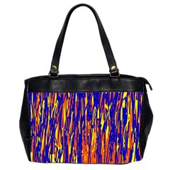 Orange, Blue And Yellow Pattern Office Handbags (2 Sides)