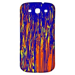 Orange, Blue And Yellow Pattern Samsung Galaxy S3 S Iii Classic Hardshell Back Case by Valentinaart