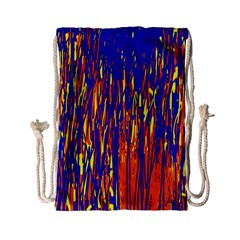 Orange, Blue And Yellow Pattern Drawstring Bag (small) by Valentinaart
