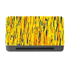 Yellow Pattern Memory Card Reader With Cf by Valentinaart