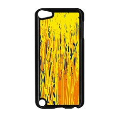 Yellow Pattern Apple Ipod Touch 5 Case (black) by Valentinaart