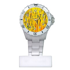 Yellow Pattern Plastic Nurses Watch by Valentinaart
