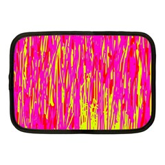 Pink And Yellow Pattern Netbook Case (medium)  by Valentinaart