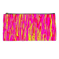 Pink And Yellow Pattern Pencil Cases by Valentinaart