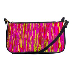 Pink And Yellow Pattern Shoulder Clutch Bags by Valentinaart